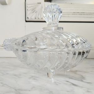 Vintage Glass Vanity Dish